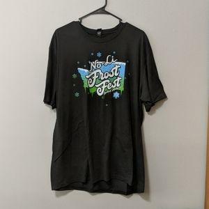 Frost Fest Size 2XL Men's Dark Gray T-shirt